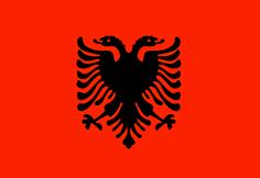 Albania : Šalies vėliava