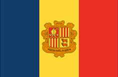 Andorra : Šalies vėliava
