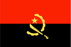 Angola : Šalies vėliava