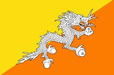 Bhutan : Šalies vėliava