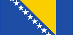 Bosnia and Herzegovina : للبلاد العلم