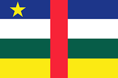 Central African Republic : Negara, bendera