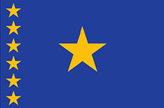 Democratic Republic of the Congo : Negara, bendera