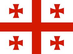 Georgia : Šalies vėliava