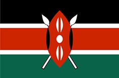 Kenya : Šalies vėliava