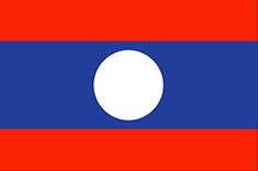 Laos : Šalies vėliava
