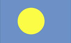 Palau : Šalies vėliava