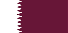 Qatar : Šalies vėliava