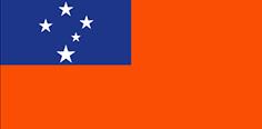 Samoa : Šalies vėliava