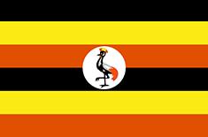 Uganda : Šalies vėliava