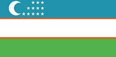 Uzbekistan : Šalies vėliava