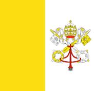 Vatican City : للبلاد العلم
