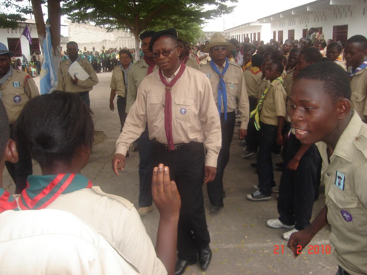 Le Commissaire Général de Scout en RDC