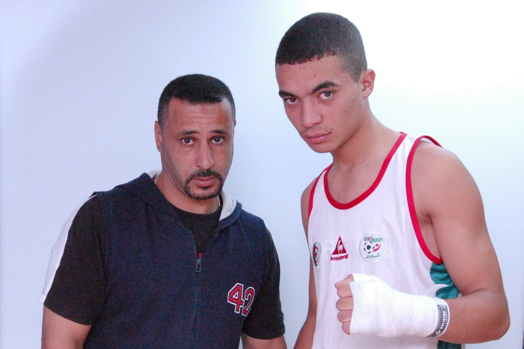 boxeur dahou djamel avec son manager b k