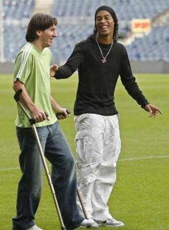 sifou-fashion : ronaldinho et messi
