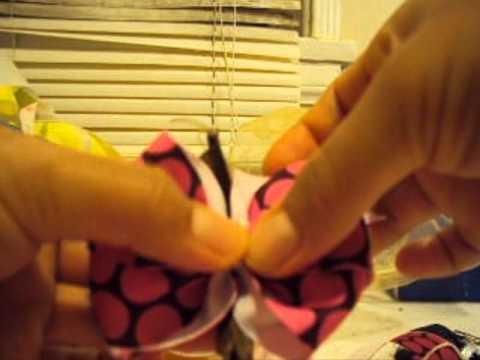 Artes y Manualidades:Como hacer Moños de liston para niñas (bebes) Paso a